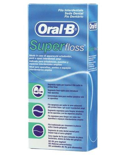 Oral-B superfloss tanntråd 50stk