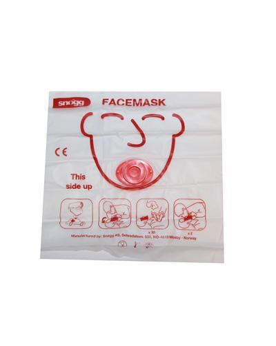 Munn-til-munn-maske med ventil 1stk