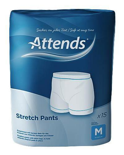 Attends Stretchpants nettingtruse str M 15stk