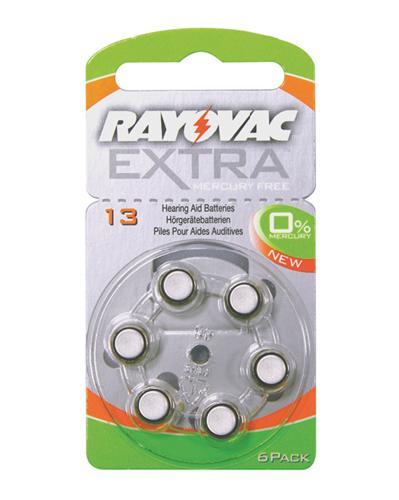 Rayovac EXTRA 13 høreapparatbatteri 6stk