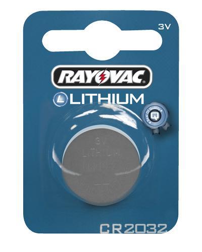 Rayovac 3V litium-batteri CR2032 1stk