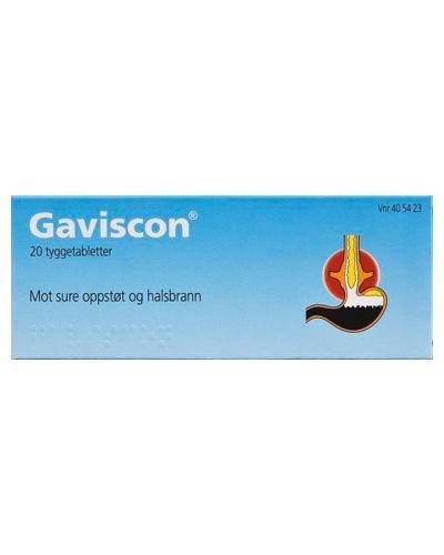 Gaviscon tyggetabletter 20stk