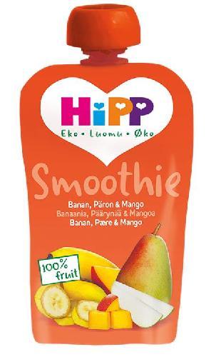 HiPP squeeze banan, pære & mango 4mnd 100g