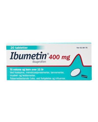 Ibumetin 400mg tabletter 20stk