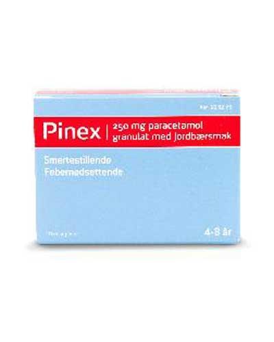 Pinex 250mg granulat jordbærsmak 10stk