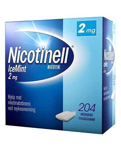 Nicotinell 2mg tyggegummi icemint 204stk