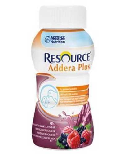 Resource Addera Plus, Bringebær & solbær 200ml