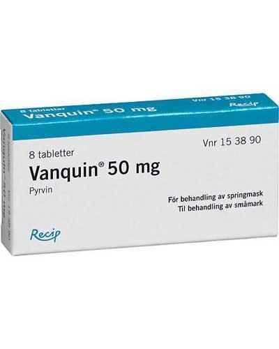 Vanquin 50mg tabletter 8stk