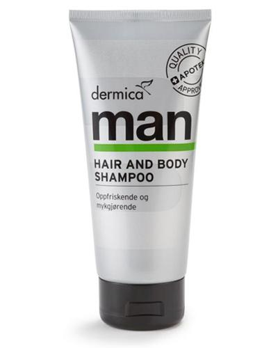 Dermica Man hair&body sjampo 200ml
