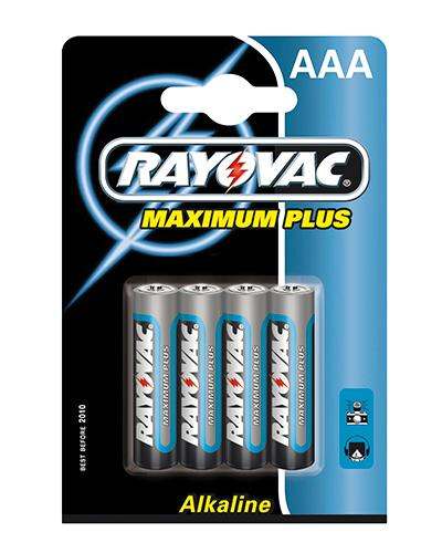 Rayovac maximum plus batteri AAA 4stk