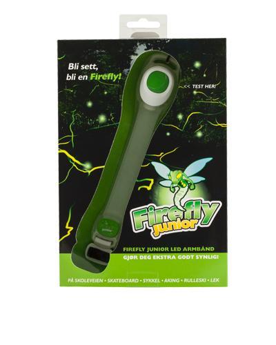Firefly led armbånd junior refleks grønn 1stk