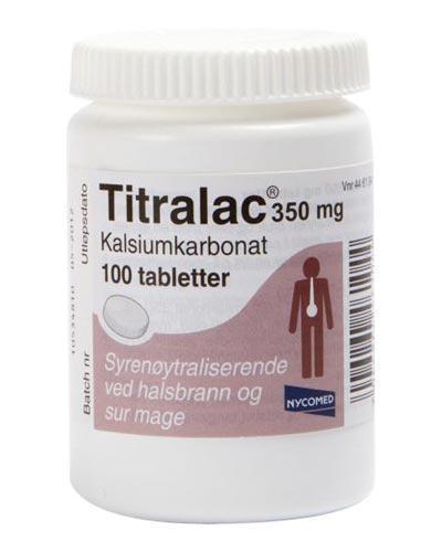 Titralac 350mg tabletter 100stk