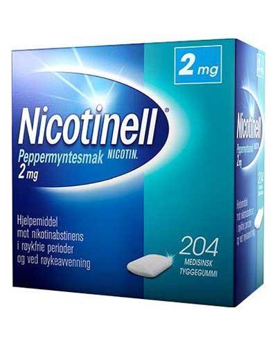 Nicotinell 2mg tyggegummi peppermynte 204stk