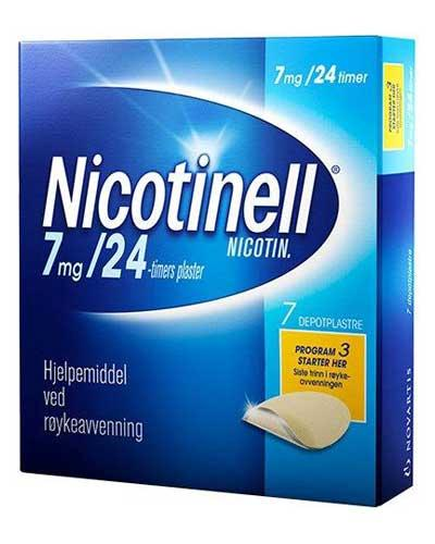 Nicotinell 7mg/24 timer depotplaster 7stk