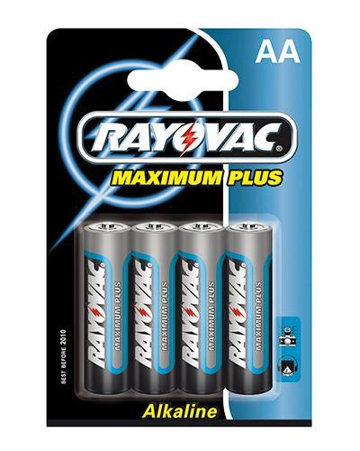 Rayovac maximum plus batteri AA 4stk