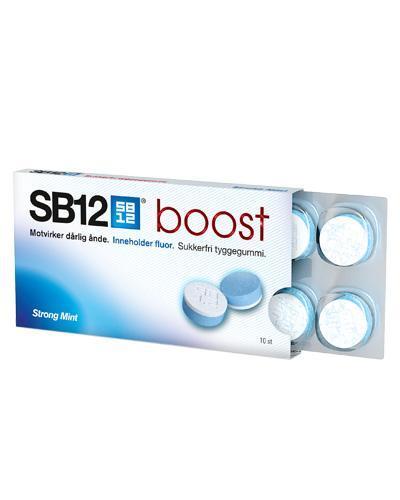 SB12 boost tyggegummi strong mint 10stk