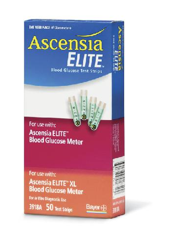 Ascensia Elite Blodsukkerstrimler 50stk