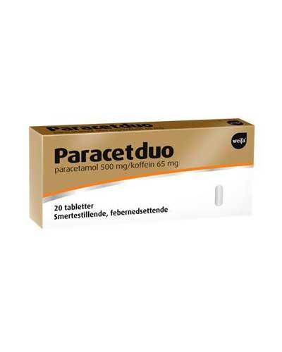 Paracetduo 500/65mg tabletter 20stk