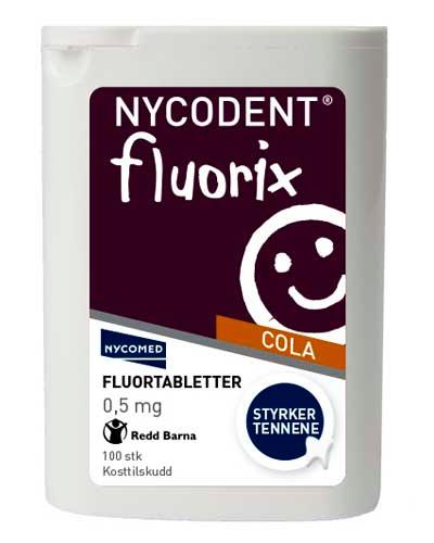 Nycodent fluorix 0,5mg med colasmak 100stk
