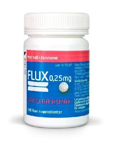 Flux 0,25mg sugetabletter bringebær 200stk