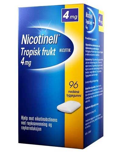 Nicotinell 4mg tyggegummi tropisk frukt 96stk