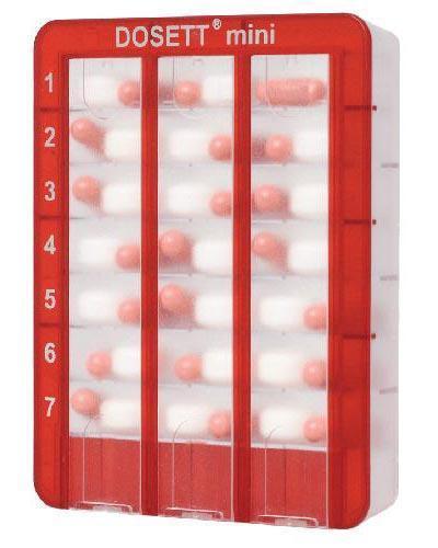 Dosett mini rød 1stk