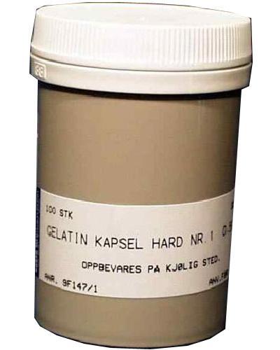 Gelatin kapsel hard 1 0,5ml 100stk