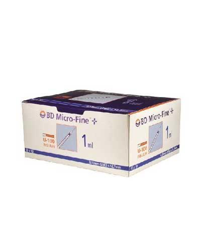 BD Micro Fine insulin sprøyte 1mlx12,7mm 100stk