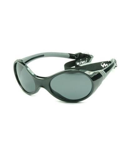 Solbrille med strikk 2-4 år sort 1stk