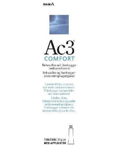Ac3 Comfort endetarmsgel 30g