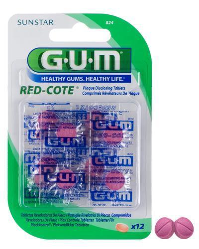 GUM Red Cote plakk-kontroll 12stk