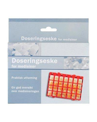 Doseringseske for medisiner medi rød 1stk