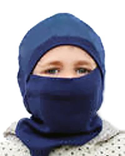 Jonas lue/ hals til varmemaske 2-7år blå 1stk