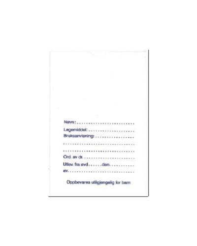 Saranposer nr.3 med tekst 90x140mm 200stk