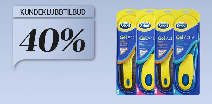 40% på Scholl Gel Active såler
