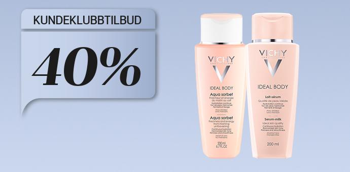 40% på Vichy Ideal Body Aqua sorbet og Serum-milk
