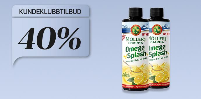 40% på Möllers Pharma Omega-3 Splash