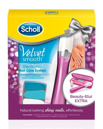 Scholl gavesett elektrisk neglefil med etui rosa 1sett