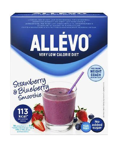Allévo VLCD smoothie jordbær/blåbær 10x31g