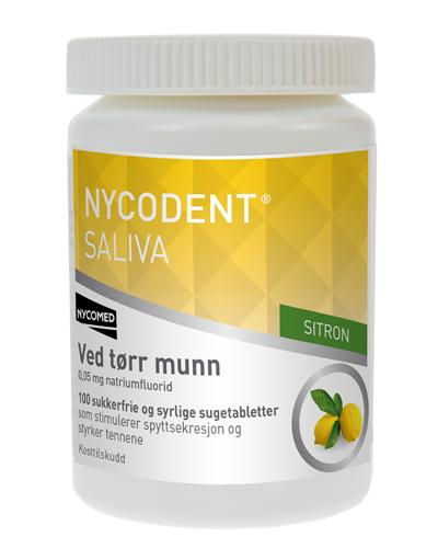 Nycodent Saliva sugetabletter sitron 100stk