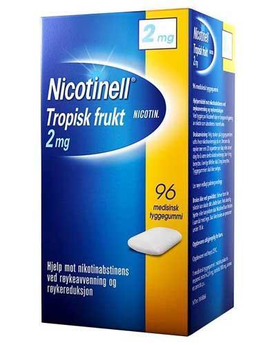 Nicotinell 2mg tyggegummi tropisk frukt 96stk